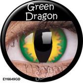 Crazy Lens Contacts - Green Dragon