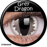 Crazy Lens Contacts - Grey Dragon