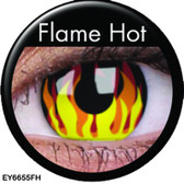 Crazy Lens Contacts - Flame Hot
