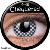 Crazy Lens Contacts - Chequered