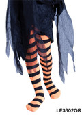 Black and Orange Striped Childs Tights