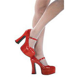 Mary Jane Shoes - Red