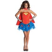 Wonder Woman Corset Womens Costume
