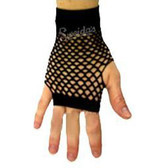 Fishnet Fingerless Gloves Short - Black - Punk