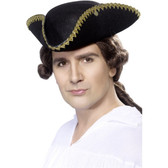 Dick Turpin Tricorn Hat Felt