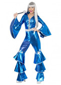 1970s Dancing Dream Women's Costume- Blue