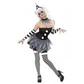 Clown Tragic Harlequin Sinister Pierrot Womens Costume
