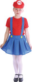 Mario Plumber Girls Costume