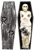 Coffin with Mummy, Spiders & Bones Deco Set