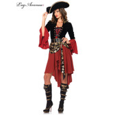 Pirate Cruel Seas Captain Womens Costume