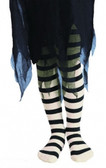 Black and White Striped Childs Tights