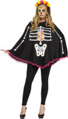 Day of the Dead Skeleton Adult Poncho