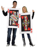 Card King & Queen of Hearts Costume