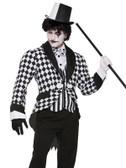 Harlequin Jacket Mime Adult Costume