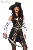 Pirate Black Sea Buccaneer Womens Costume