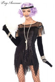Flapper 1920s Foxtrot Flirt Black Dress
