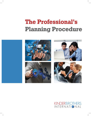 Professional's Planning Procedure