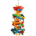 <div>Chewstacks Wood &amp; Rope Parrot Toy</div>