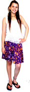 Short Rayon Skirt and Cotton Top