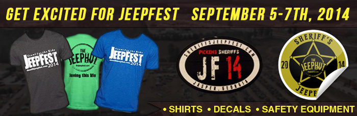 Support A Charitable Cause, Sheriff's Jeepfest Shirts Are Now Available To Purchase!