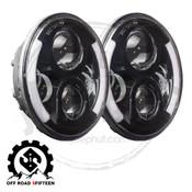 Offroad 515,  7 Inch Round LED Halo Headlights For Jeep Wrangler, JK, TJ, LJ