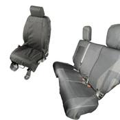Rugged Ridge, 13256.02 - Elite Ballistic Seat Cover Set, 4 Door; 07-10 Jeep Wrangler JKU