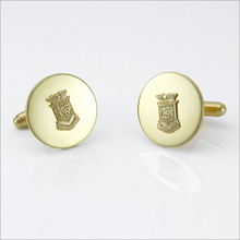 "ΔKE ¾"" Polished Cufflinks with Crest"