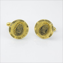 ΖΨ Round Ribbon-Border Cufflinks