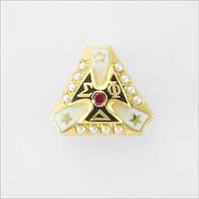 ΣΦΔ Crown Set Pearl Badge