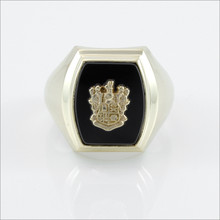 ΘΔΧ Barrel Onyx Ring