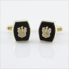 ΘΔΧ Classic Barrel Onyx Cufflinks