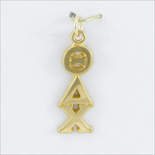 ΘΔΧ Traditional Vertical Letters Charm