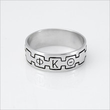 ΦΚΘ Monogram Band Ring