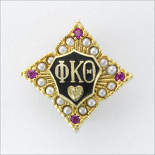 ΦΚΘ Pearl and Ruby Member Badge