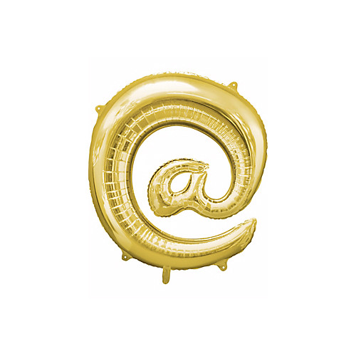 32 Inch Giant Symbol At Sign Gold Balloon