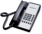 Teledex Diamond+5 Hotel Hospitality Telephone Black DIA651391