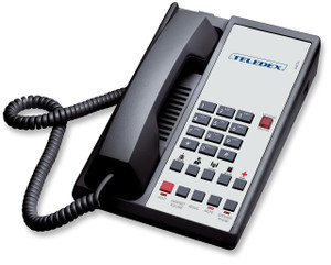 Teledex Diamond+S-5 Hotel Hospitality Telephone Black DIA651491