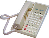 Teledex Diamond L2S-10E 2 Line Guest Room Telephone Ash DIA67359