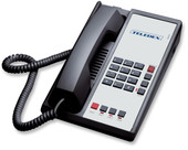 Teledex Diamond L2-E 2 Line Guest Room Telephone Black DIA670591