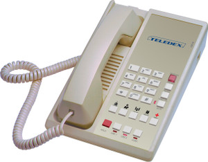 Teledex Diamond L2-5E 2 Line Guest Room Telephone Ash DIA67159