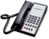 Teledex Diamond L2-5E 2 Line Guest Room Telephone Black DIA671591