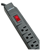 Surge Strip, 6 Horizontal Outlets, 90 Joules, 3.5 ft. Cable 160742