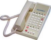Teledex Diamond L2-10E 2 Line Guest Room Telephone Ash DIA67259