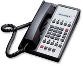 Teledex Diamond L2-10E 2 Line Guest Room Telephone Black DIA672591