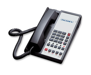 Teledex Diamond L2S-5E 2 Line Guest Room Telephone Black DIA671491 (CDIA671491)