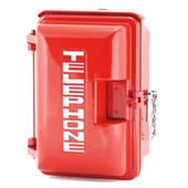 Cast Aluminum Weatherproof Enclosure with TELEPHONE on Door Red 331-005-R-TEL
