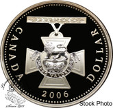 Canada: 2006 $1 150th Anniversary of the Victoria Cross Proof Silver Dollar coin