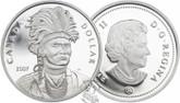 Canada: 2007 $1 Thayendanegea Proof Silver Dollar coin