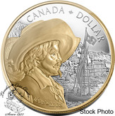 Canada: 2008 $1 400th Anniversary of Quebec City Gold Plated Proof Silver Dollar Coin