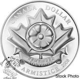 """Canada: 2008 $1 """"The Poppy"""" Armistice Proof Silver Dollar Coin"""